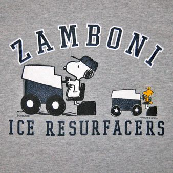 Snoopy and Woodstock tees    Offered in size 2T, 4T, 6/8 and 10/12 for your little Zamboni fan at home!