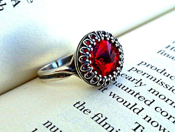 Victorian Gothic Swarovski Ring