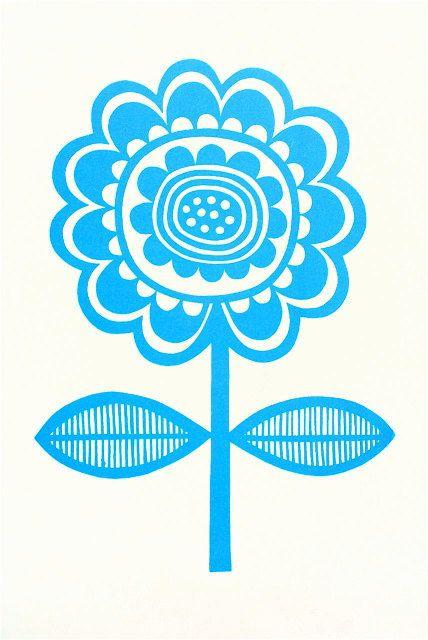 Blue Scandinavian | flower - jane foster