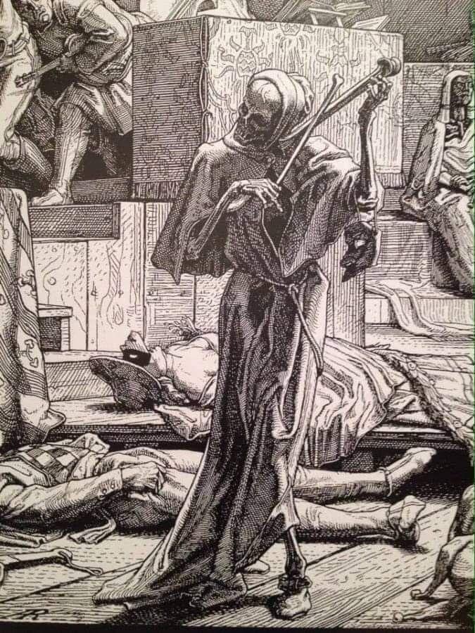 La Muerte Tocando El Violín Durante La Epidemia De Cólera En Paris 1831 Alfred Rethhel Arte De Miedo Arte Macabro Arte Extraño