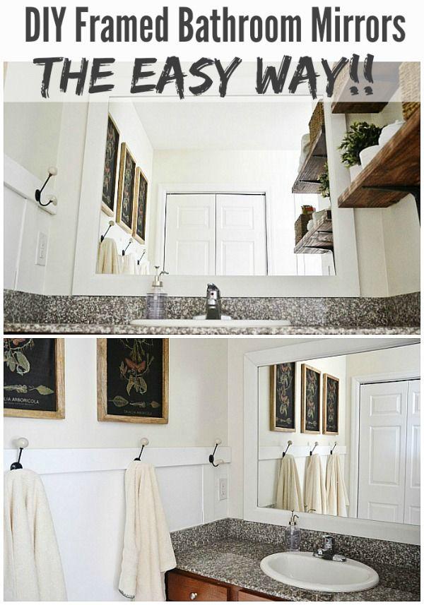 Digital Art Gallery DIY Framed Bathroom Mirrors