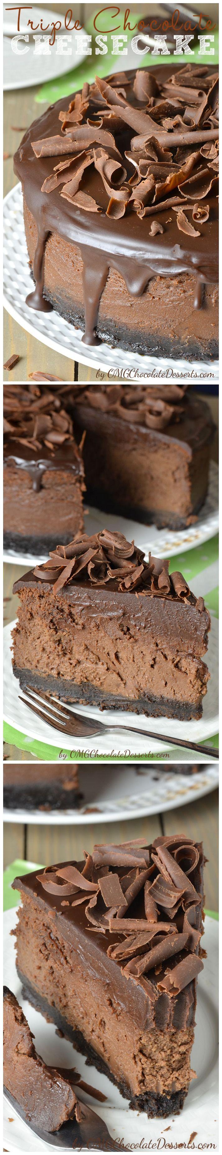 Triple Chocolate Cheesecake | Recipe Source