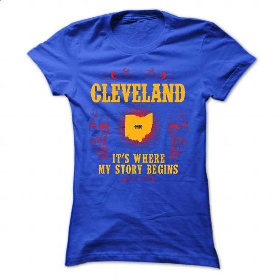 Cleveland - Its where story begin - #simply southern tee #cute sweatshirt. ORDER NOW => https://www.sunfrog.com/Names/Cleveland--Its-where-story-begin-RoyalBlue-70057015-Ladies.html?68278