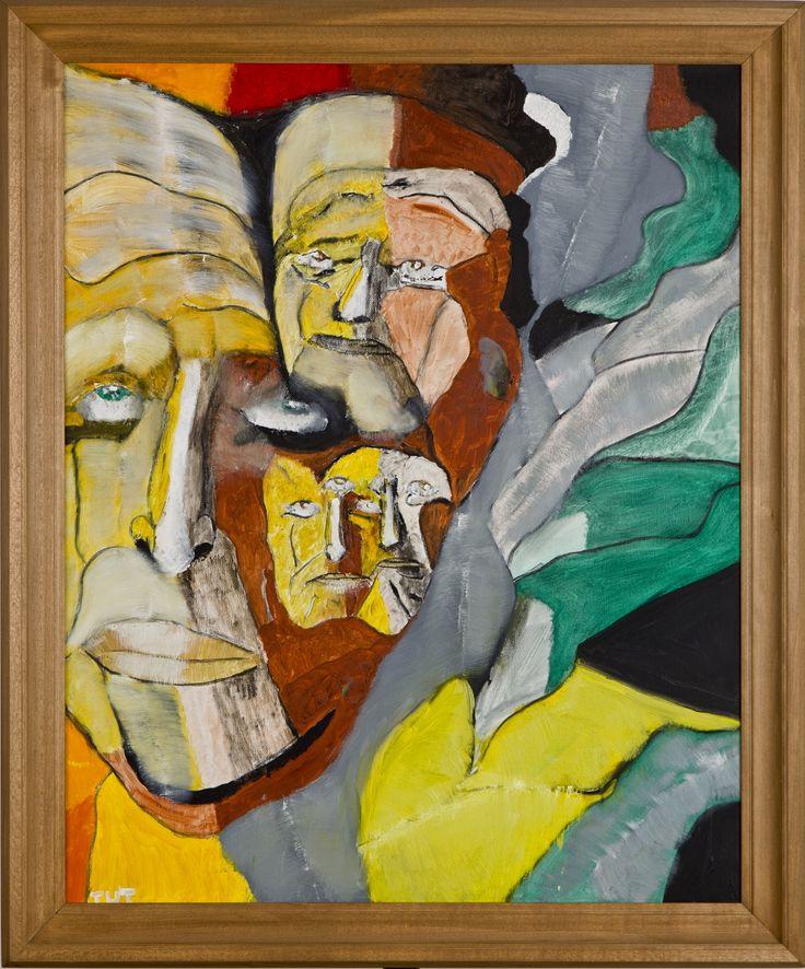 Wojciech Tut Chechliński, Światy równoległe, olej na płótnie, 79,5 x 63,5 cm, 2013 r, sygnowany (kat. 108)