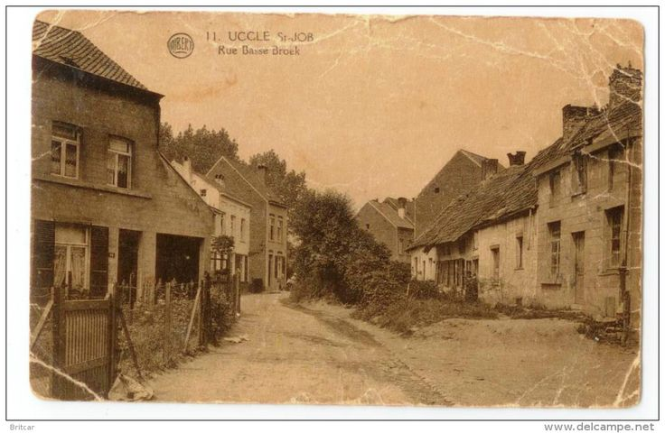 Uccle St Job Rue Basse Broek Ukkel carte postale ancienne