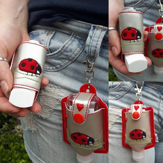 Lady Bug Inhaler Holder Hand Sanitiser Holder Anti Bacterial