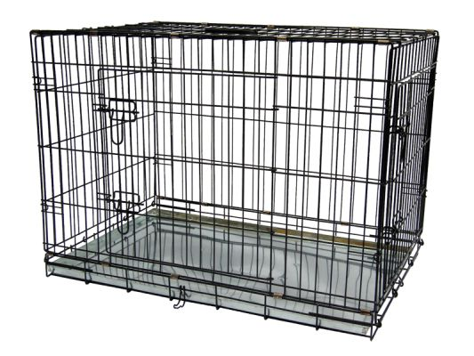 Durable Pets cages for dogs, cats or other animals can be used in cars and at home, providing safety and protection. High quality with two doors