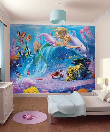 This Mermaids Mural by Brewster Home Fashions is perfect! #zulilyfinds