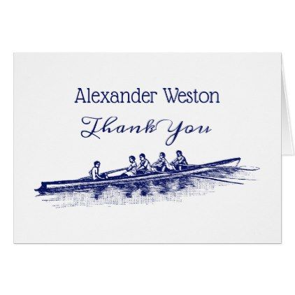 Blue Rowing Rowers Crew Team Water Sports Card - blue gifts style giftidea diy cyo