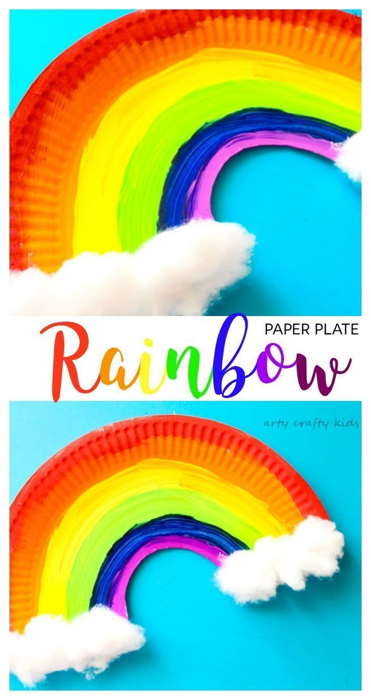 Arty Crafty Kids | Craft | Easy Paper Plate Rainbow Craft | A simple paper plate rainbow craft for kids. A super cute St Patrick's Day Craft or Spring Craft.