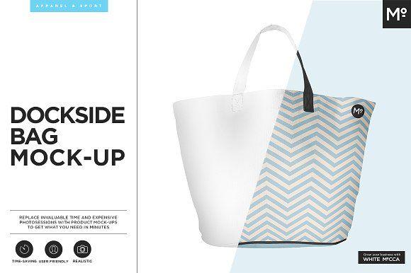 Dockside Bag Mock-up by Mocca2Go/mesmeriseme on @creativemarket