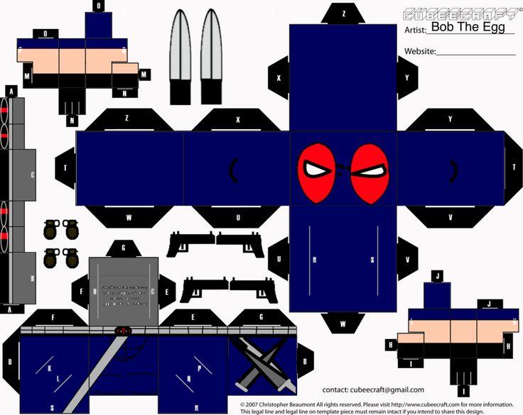 Weapon X Deadpool Cubee by BobTheEgg.deviantart.com on @deviantART