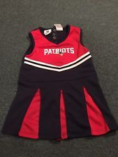 New England Patriots Football 4T girls dress toddler cheerleader cheer outfit