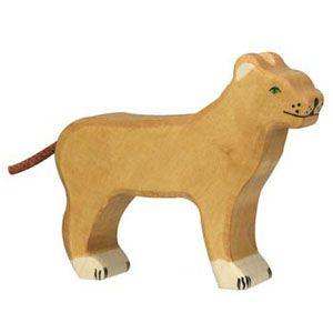 Holztiger Wooden Animal Figure Lioness Canada