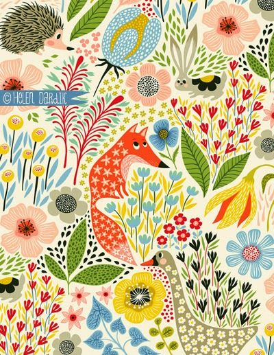 "hedgehogs & foxes vs geese & rabbits . . . by helen dardik of ""orange you lucky!"""
