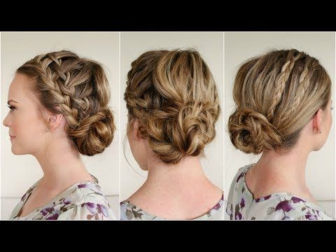 Waterfall Braids and Fishtail Bun