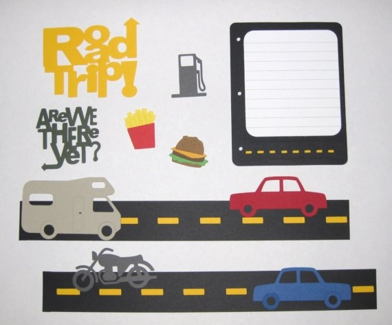 Roadtrip Scrapbook Layout on Etsy