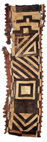 Africa | Kuba Bark Cloth.  DR Congo Maybe take off white canvas and paint mudcloth designs on it?