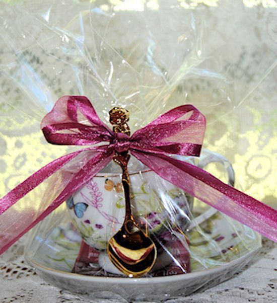4 white butterfly teacup tea cup favors tea cups bags for Teacup party favors