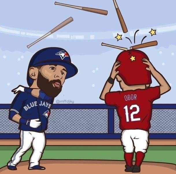 Love this so much! #JoeyBats19 #BlueJays