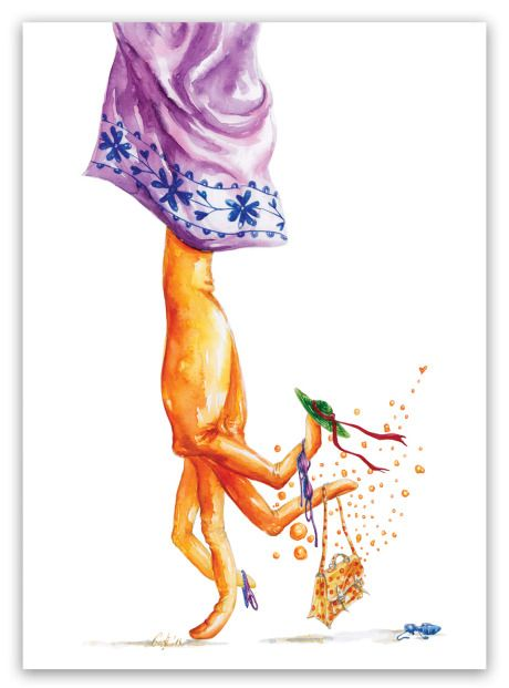 Sorry, but thisholiday mood just won't leave me alone! / watercolor illustration by Gratiela Aolariti