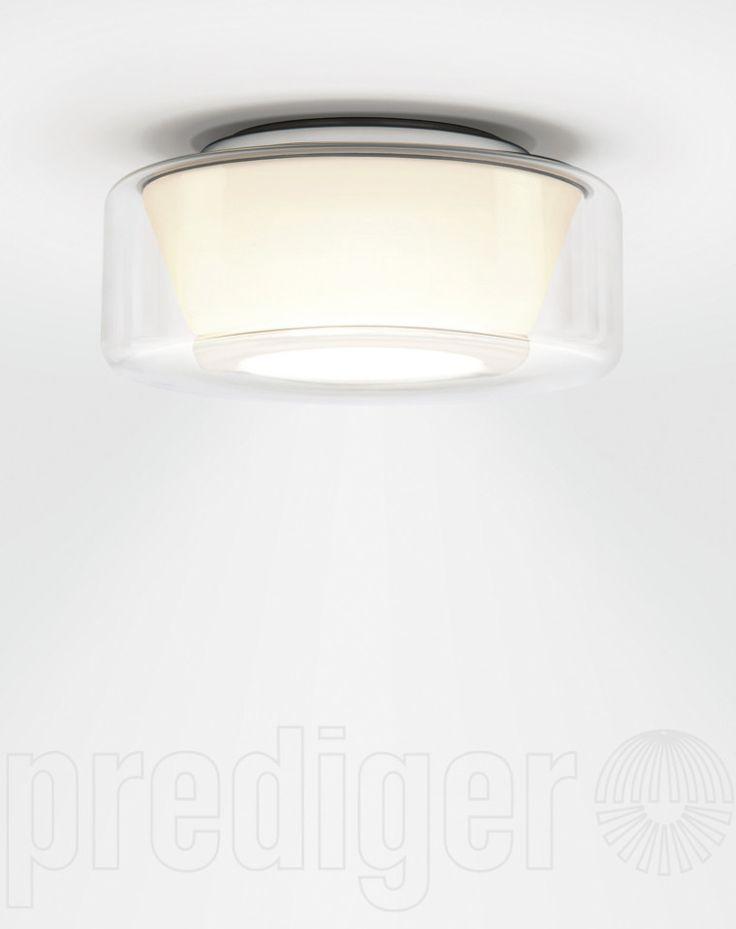 Serien Lighting Curling Ceiling Medium Klar/Opal konisch LED