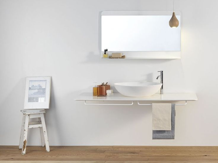 Mies By ex.t, piano lavabo design Studio 63  Console with towel rail €747.01 Incl. Tax