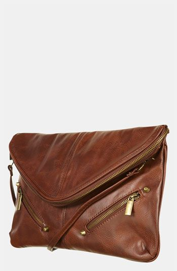 Topshop Zip Envelope Convertible Clutch bag