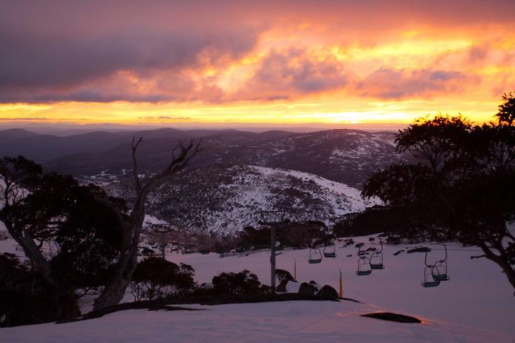 Sunrise at Perisher, Mt Kosciuszko National Park, Australia.