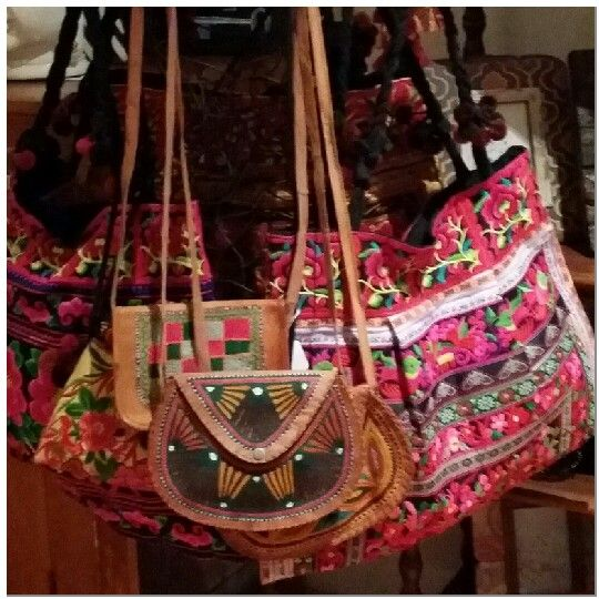 Embroidered bags @ Stylehaus Boutique