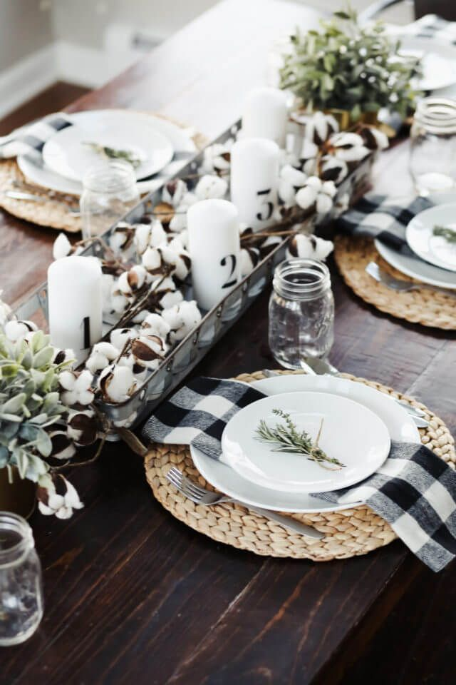14 Sophisticated Christmas Table Decorations For A Merry And Bright Home Dining Table Decor Christmas Table Decorations Fall Decor Diy
