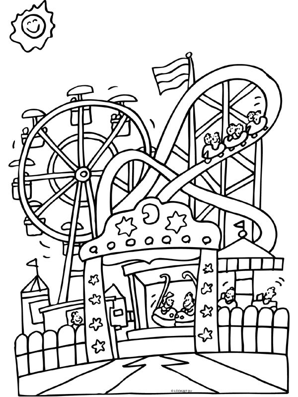 Kleurplaten Pretpark Groot 25 Beste Idee 235 N Over Achtbaan Thema Op Pinterest