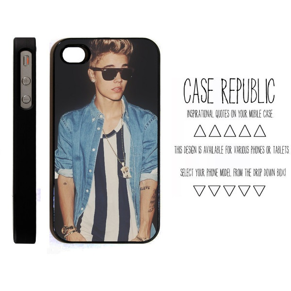 Apple iPhone 4 4G 4S 5 iPod Touch 5 Case Cover Justin Bieber Belieber... ($15) ❤ liked on Polyvore