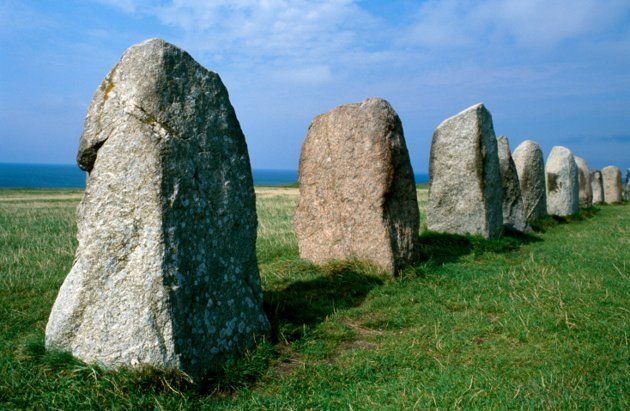 Mysterious Swedish 'Stonehenge'  A 5,500-year-old tomb possibly belonging to a Stone Age chieftain has been unearthed at a megalithic monument in the shape of a ship called the Ale's Stenar (Ale's Stones). The tomb, in Sweden, was likely robbed of stones to build the Viking-era ship monument.