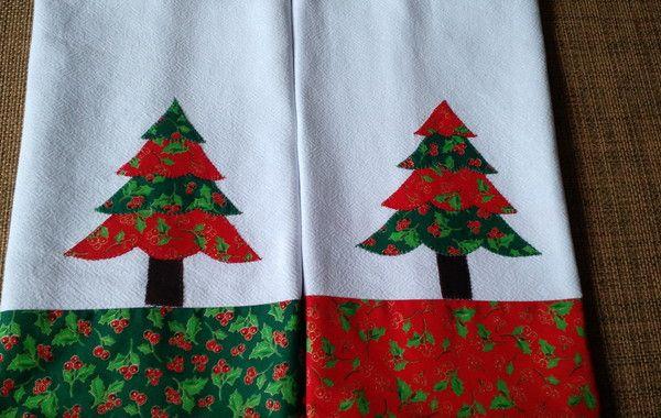 Pano De Prato Aplicacao Natal Arvore Pratos Para Natal Panos