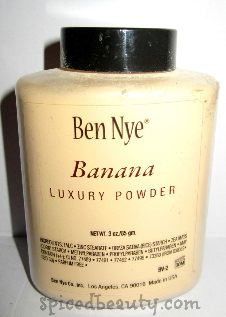 Ben Nye Banana Luxury Powder...a make-up Godsend! Yellow powders and primers cancels out any hyperpigmentation on your skin!