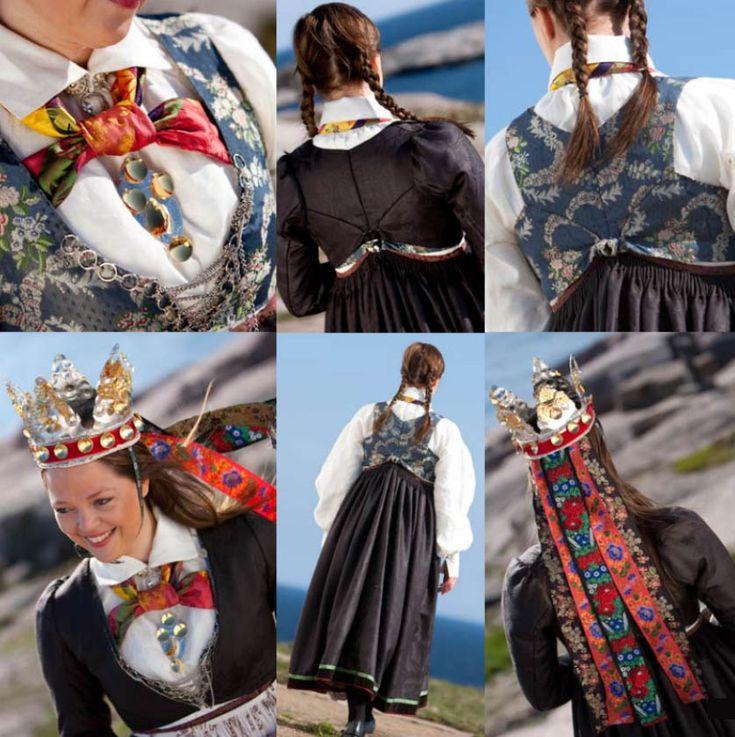 Rekonstruert bridal costum from Vest Agder.