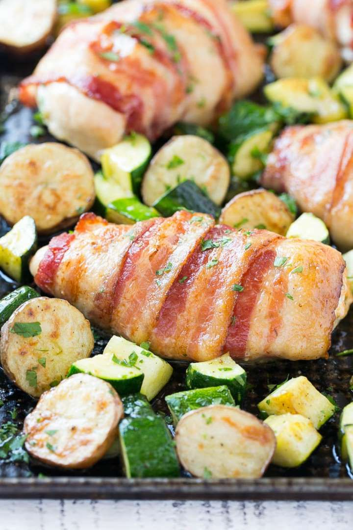 Sheet pan dinners don't have to be boring repetitions of meats and vegetables without much going on.... - Dinner At The Zoo