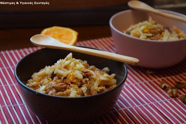 Νόστιμες κ Υγιεινές Συνταγές: Κρέμα βρώμης που θυμίζει μηλόπιτα