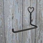 WC Rol houder hart - Uniek - Gietijzer