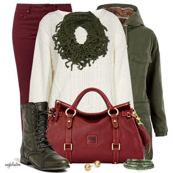 Winter OutfitGreen Shoes, Comfy Red, Style, Clothing, Casual Work Outfit, Fashionista Trends, Winter Outfit, Casual Wear, Fashion Trends