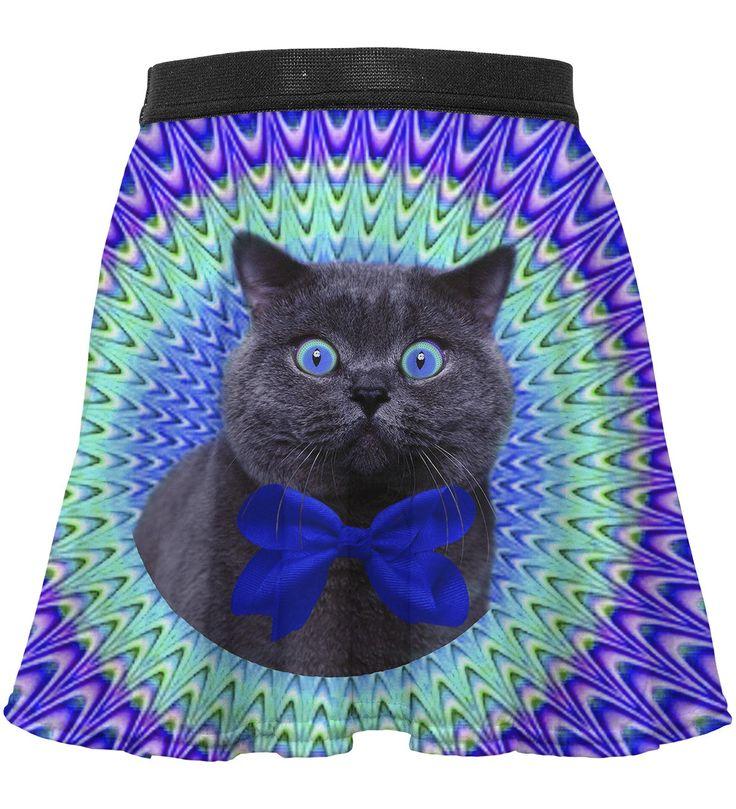 Crazy Cat circle skirt for kids, Mr. GUGU & Miss GO
