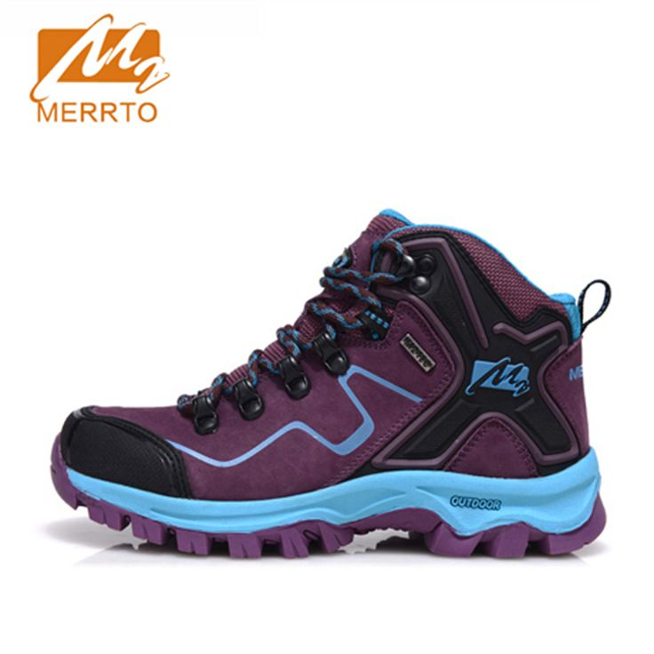2017 Merrto Womens Hiking Boots Breathable Waterproof Outdoor Sports Shoes Full-grain leather For Female Free Shipping MT18572 #Affiliate