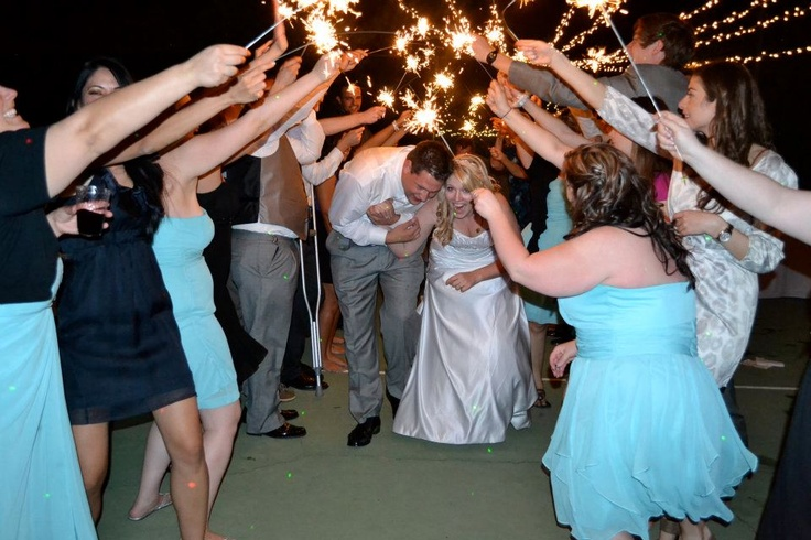 Sparklers were a total hit!