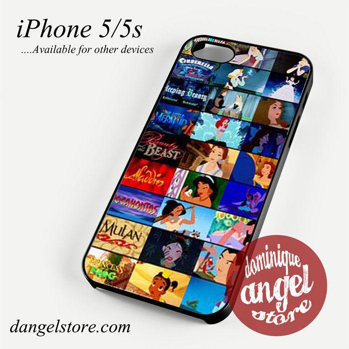 disney movie collage Phone case for iPhone 4/4s/5/5c/5s/6/6 plus