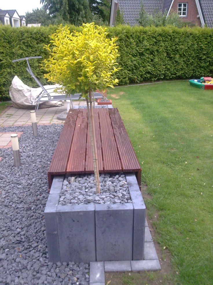 Doppelhaushälfte mit Sitzbank | RIGHINI Garten- und Landschaftsbau