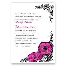 Lasting Love - Begonia - Invitation