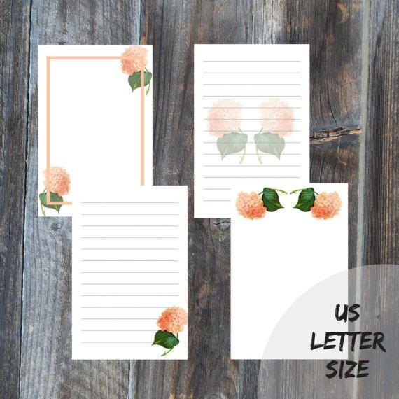 Letter writing set 4 sheets US letter size digital di Leccio51