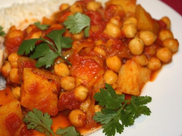 Chickpea Curry (Vegan -Pressure Cooker)