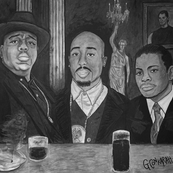 3 immortal legends #Biggie #Pac #Eazy